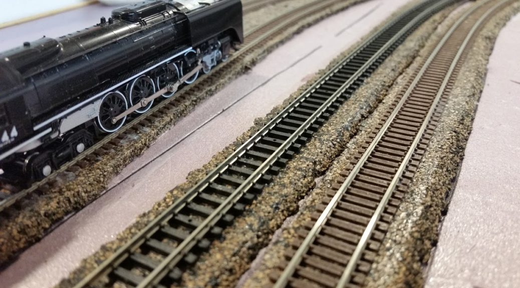 new model railroad build part 4 laying the track and. Black Bedroom Furniture Sets. Home Design Ideas